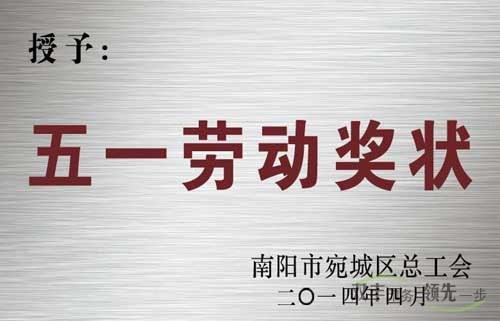 南阳市双丰印务有限公司五一劳动奖章