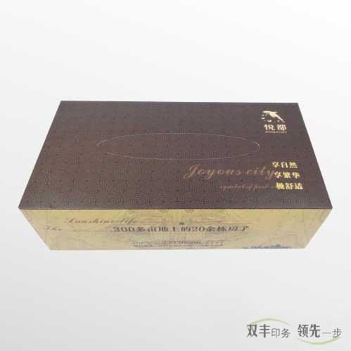 河南印刷厂:房地产纸抽盒印刷