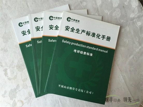 安全生产标准化手册印刷